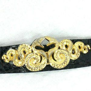 Judith Leiber 2 Snakes Serphents Buckle Belt
